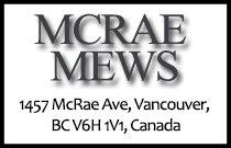 MCRAE MEWS 1457 McRae V6H 1V1