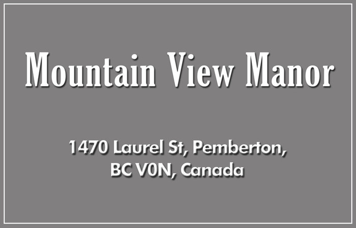 Mountain View Manor 1470 LAUREL V0N 2L1