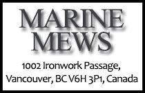 Marine Mews 1002 Ironwork Passage V6H 3P1
