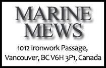 Marine Mews 1012 Ironwork Passage V6H 3P1