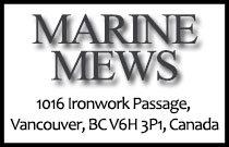 Marine Mews 1016 Ironwork Passage V6H 3P1