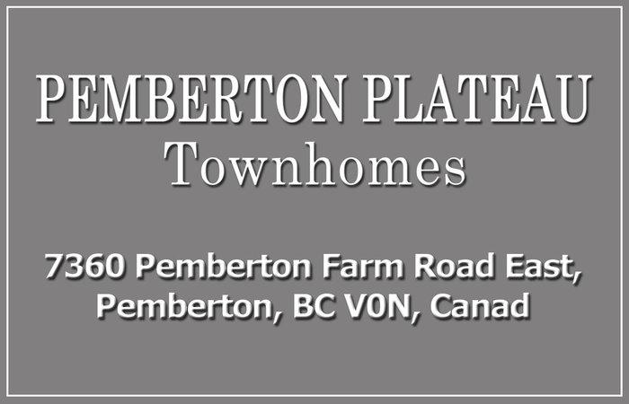 Pemberton Plateau Townhomes 7360 PEMBERTON FARM V0N 2L3