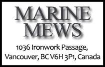 Marine Mews 1036 Ironwork Passage V6H 3P1