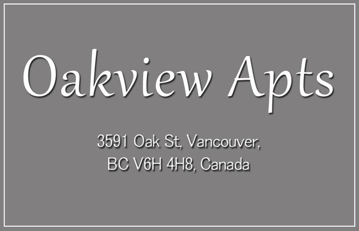 Oakview Apts 3591 OAK V6H 2M1