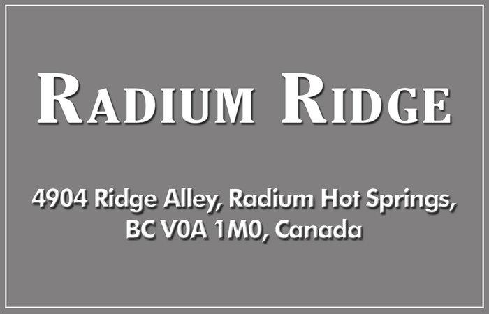 Radium Ridge 4904 RIDGE V0A 1M0