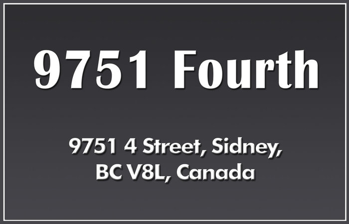 9751 Fourth St 9751 Fourth V8L 5C5