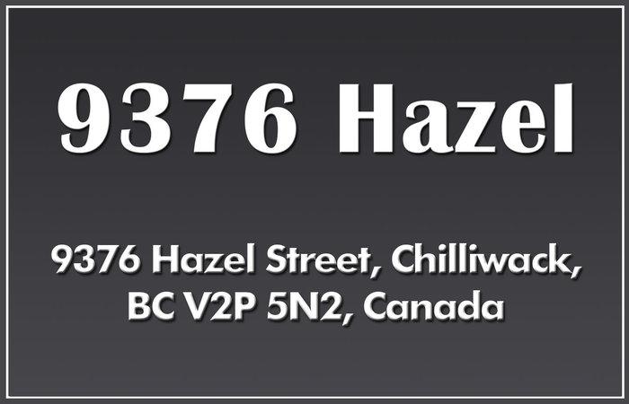 9376 Hazel 9376 HAZEL V2P 5N2