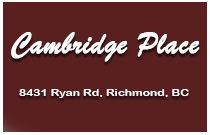 Cambridge Place 8431 RYAN V7A 2E8