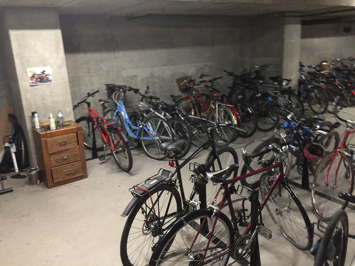1128 Quebec Bike Storage!