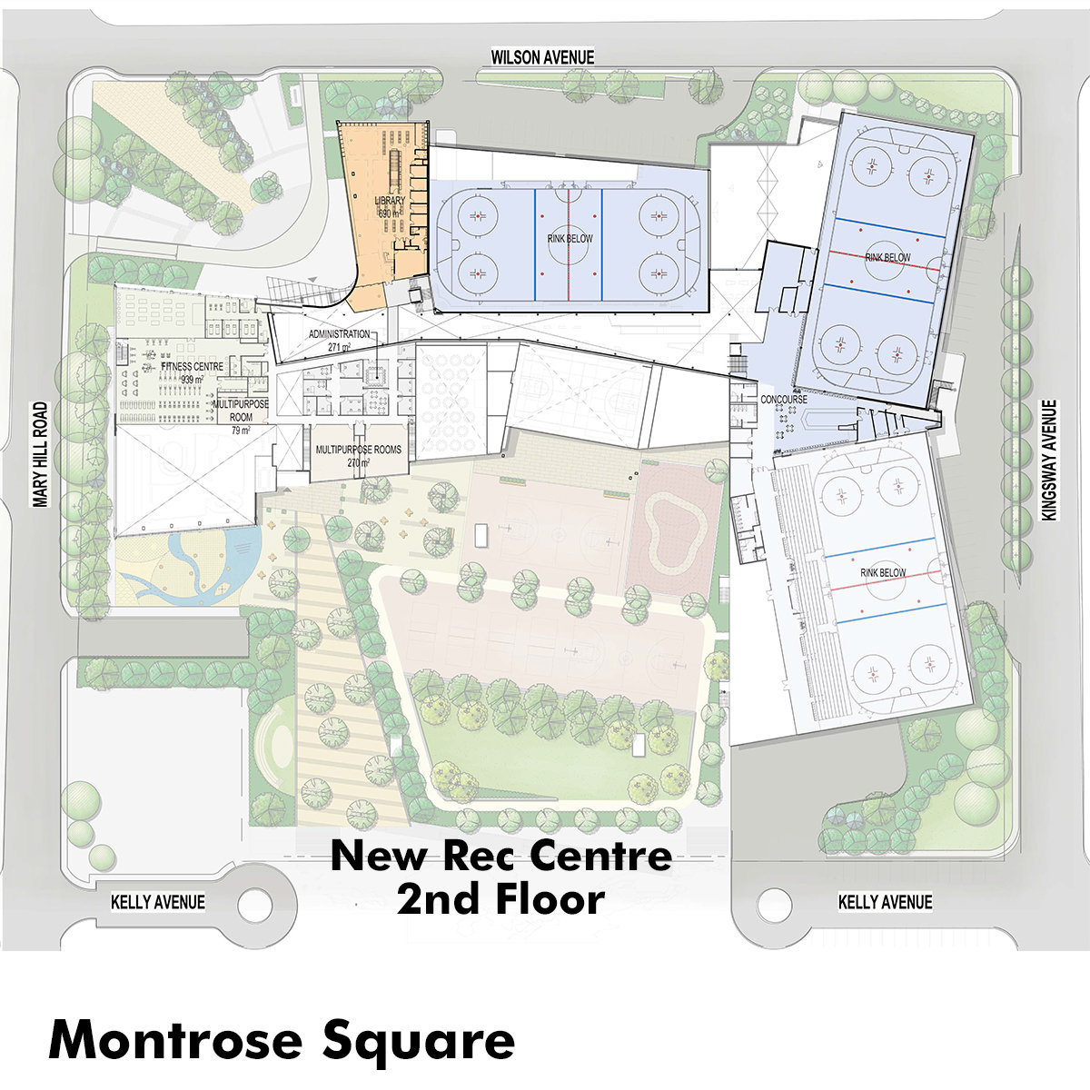 Proposed New Rec Centre And Monrose Square!