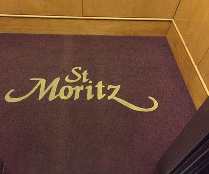 St. Moritz Entrance Sign!