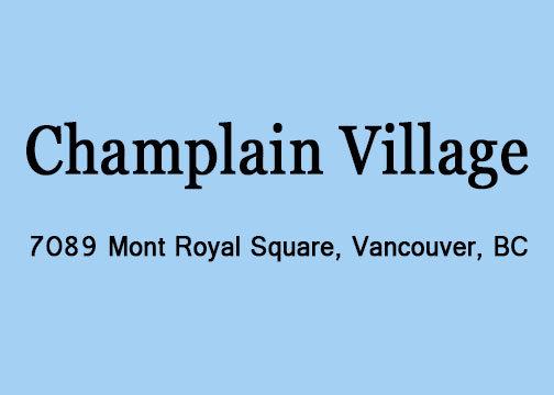 Champlain Village 7089 MONT ROYAL V5S 4W6