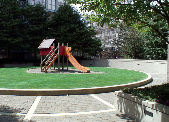 Pacific Plaza I Courtyard Play Area!
