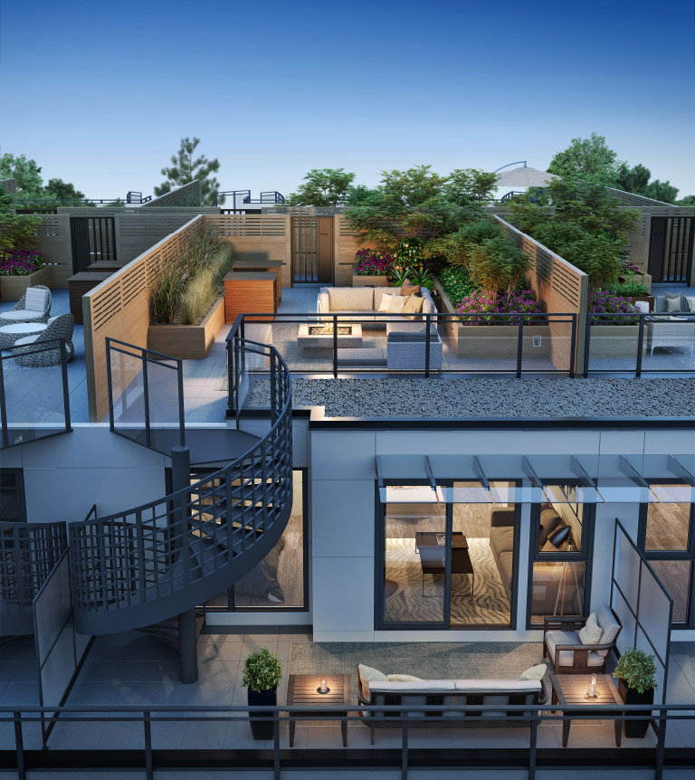 Midtown Modern Display Roof Deck!