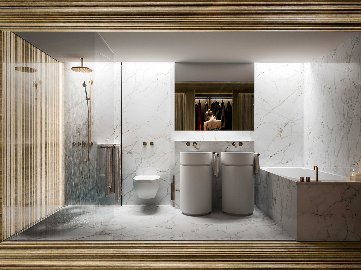 The Butterfly Bathroom Rendering!