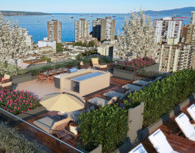 1345 Davie St, Vancouver, BC V6E 1N5, Canada Rooftop!