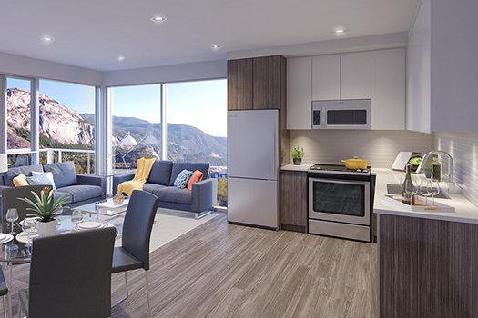 37881 Cleveland Ave, Squamish, BC V8B 0S8, Canada Living Area & Kitchen!