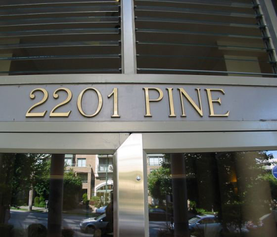 2201 Pine Sign Over Entrance!