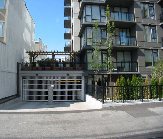 2201 Pine Parkade Entrance!