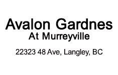 Avalon Gardens Retirement Community 22323 48TH V3A 0C1