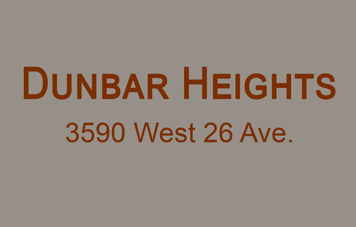 Dunbar Heights 3590 26TH V6S 1N9