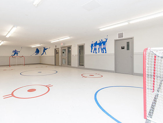 Indoor Floor Hockey Room!