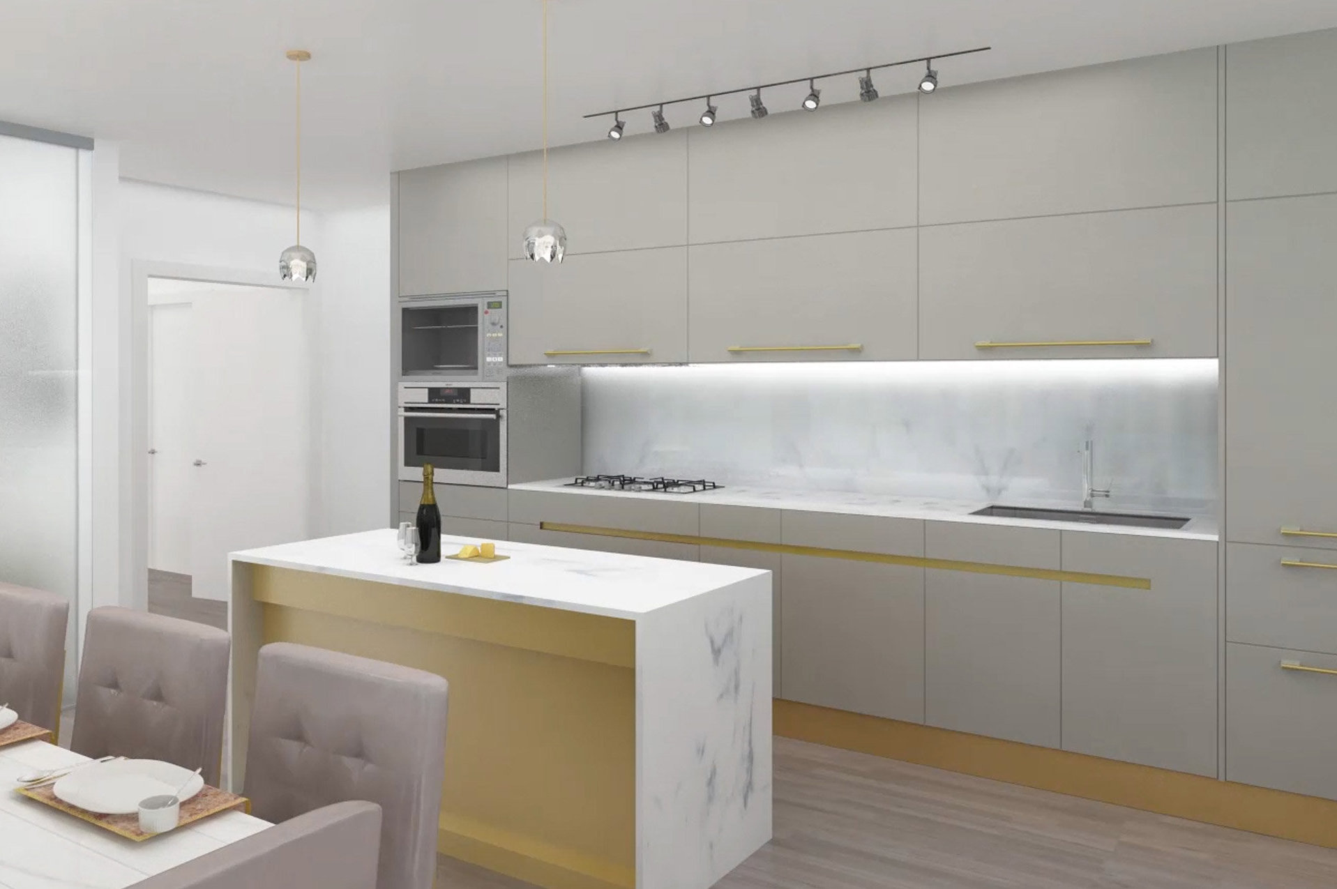 Bordeaux Madeleine Scheme Kitchen!