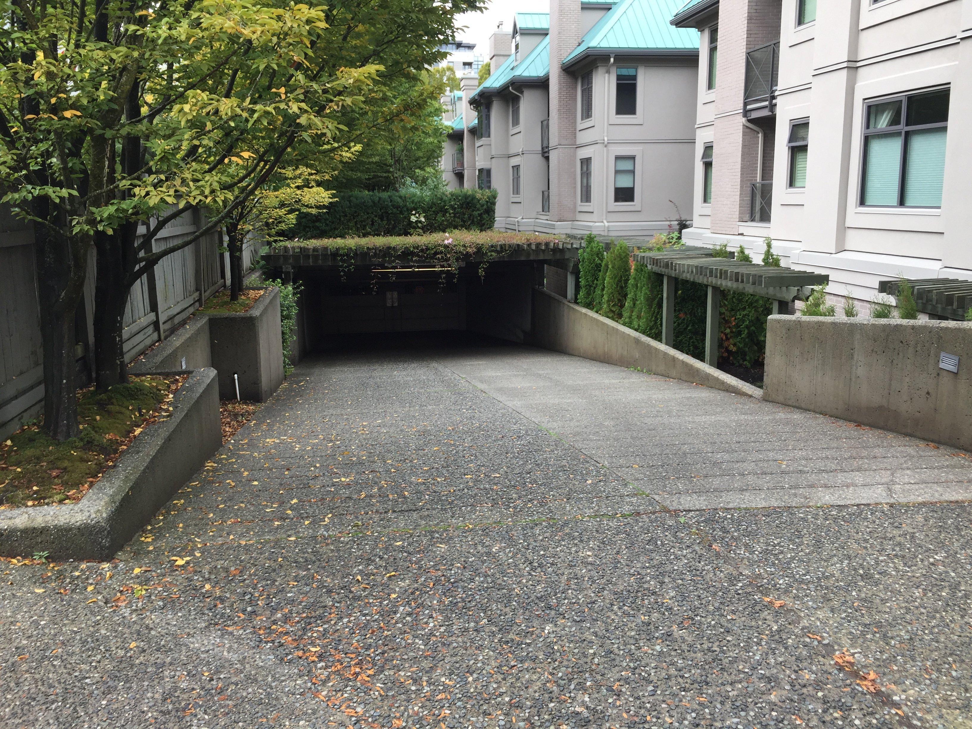 Connaught Gardens Parkade Entrance!