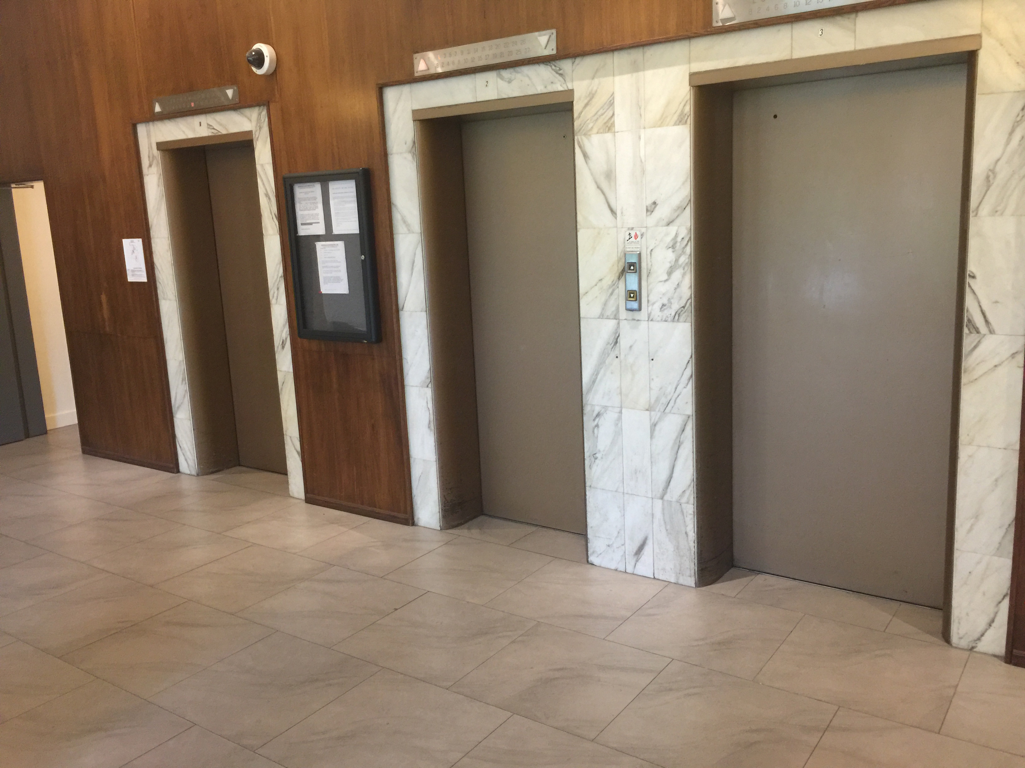 1850 Comox Lobby Elevators!