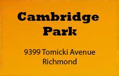 Cambridge Park 9399 TOMICKI V6X 0H6
