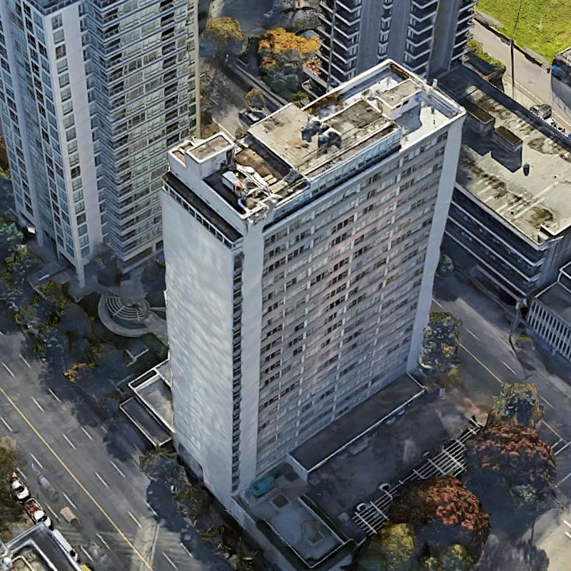 Georgian Towers - 1450 W Georgia St - Exterior!