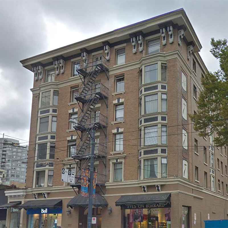 Heritage Strata Building at 777 Burrard St!