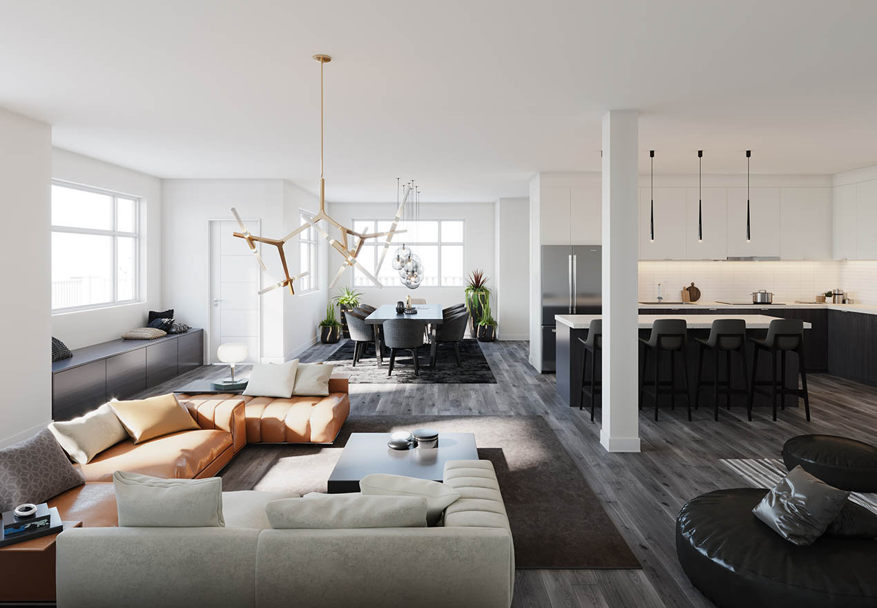 Living & Dining Area!