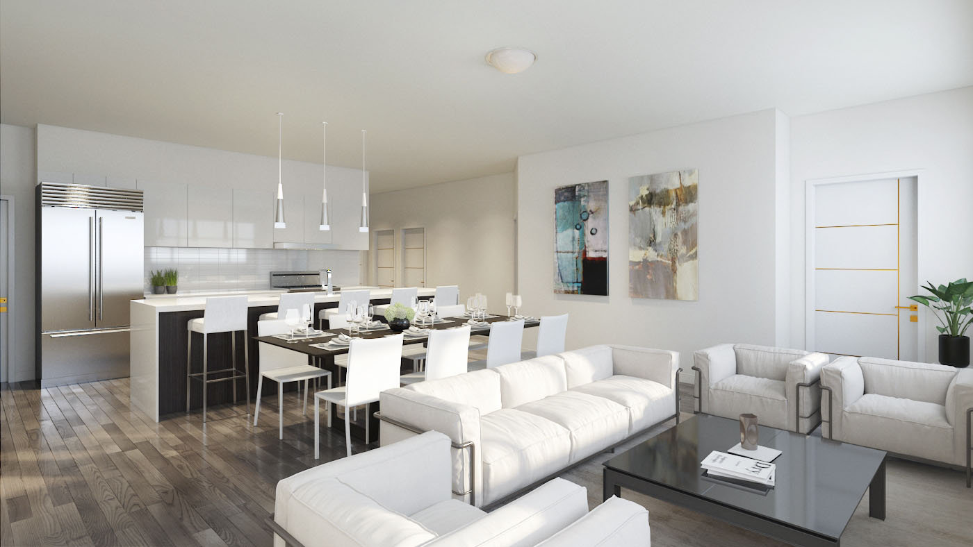 Living, Dining & Kitchen Area!