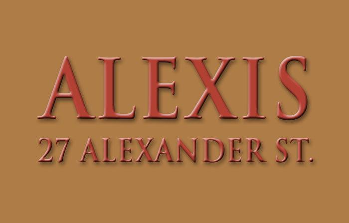 Alexis 27 ALEXANDER V6A 1B2