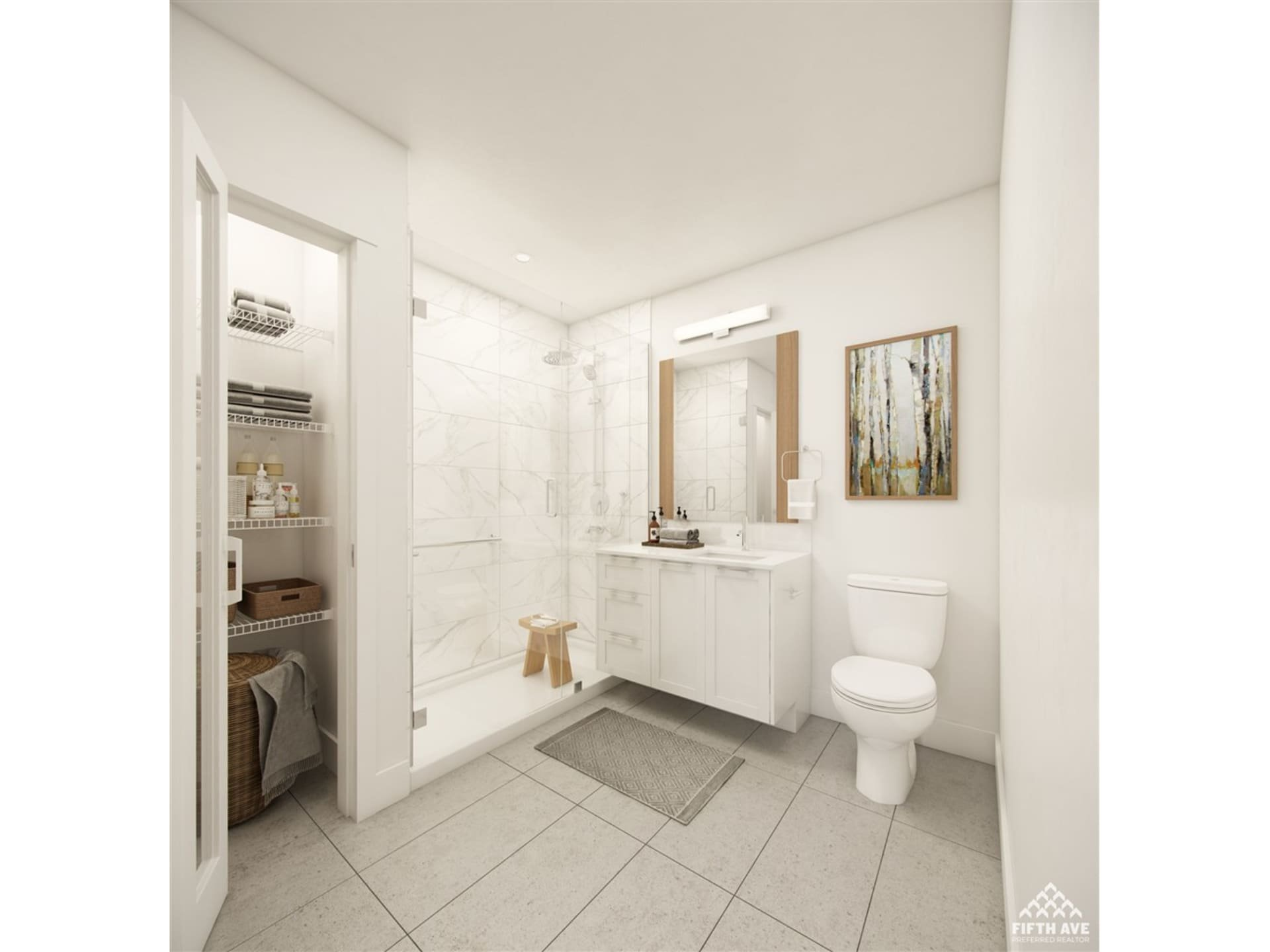 The Residences at Willoughby Town Centre Display Suite Ensuite!