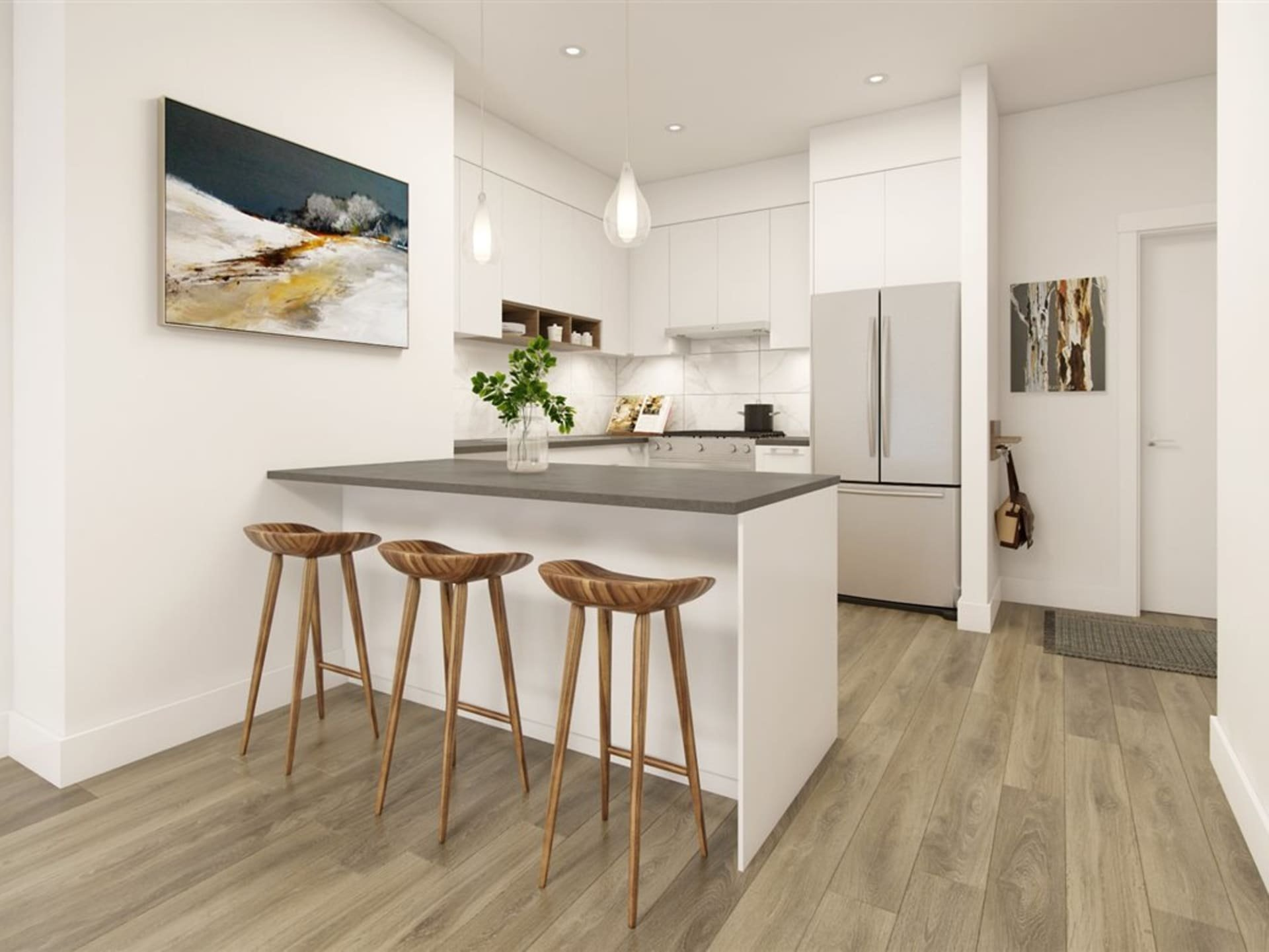 The Residences at Willoughby Town Centre Display Suite Kitchen!