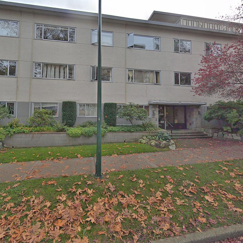 Jervis Manor - 1050 Jervis St. - Building exterior!
