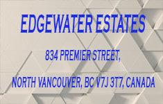 Edgewater Estates 834 PREMIER V7J 3T7