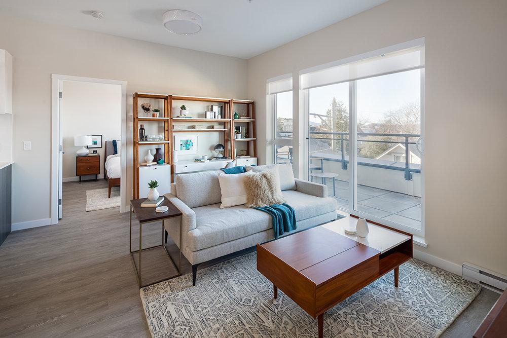 Living Area - 1008 Pandora Ave, Victoria, BC V8V 3P5, Canada!