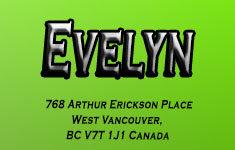 Evelyn 768 ARTHUR ERICKSON V7T 1J1