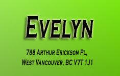 Evelyn 788 ARTHUR ERICKSON V7T 1J1
