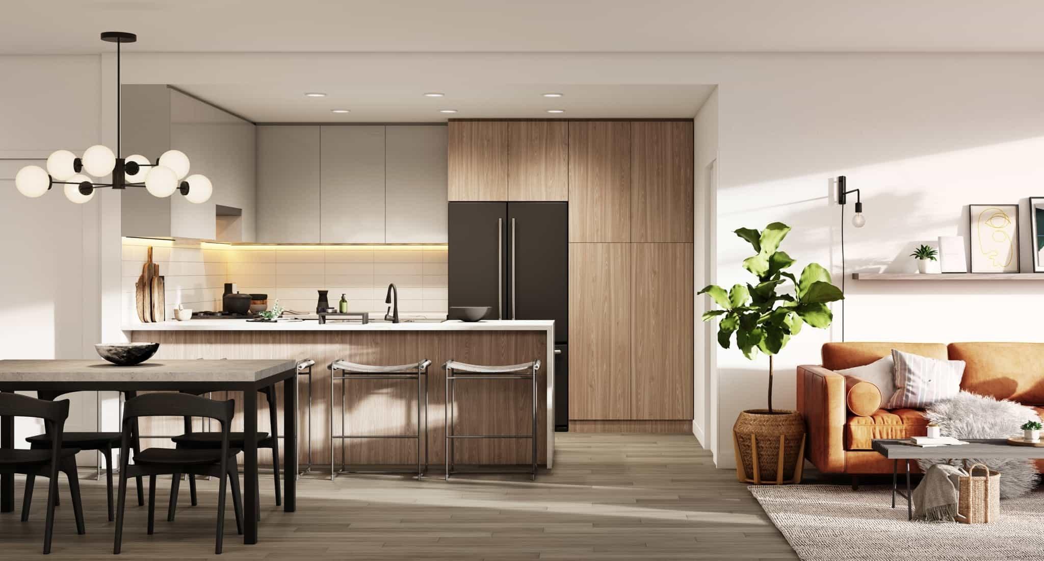 Dining, Kitchen, and Living Area - 2408 Grant St, Vancouver, BC V0V 0V0, Canada!