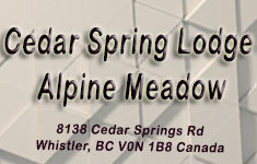 Cedar Spring Lodge Alpine Meadow 8138 CEDAR SPRINGS V0N 1B8