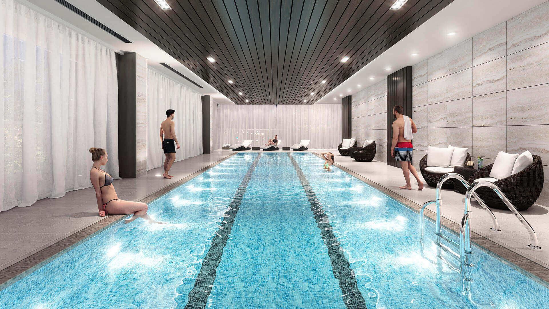 Indoor Pool - 8671 Hazelbridge Way, Richmond, BC V0V 0V0, Canada!