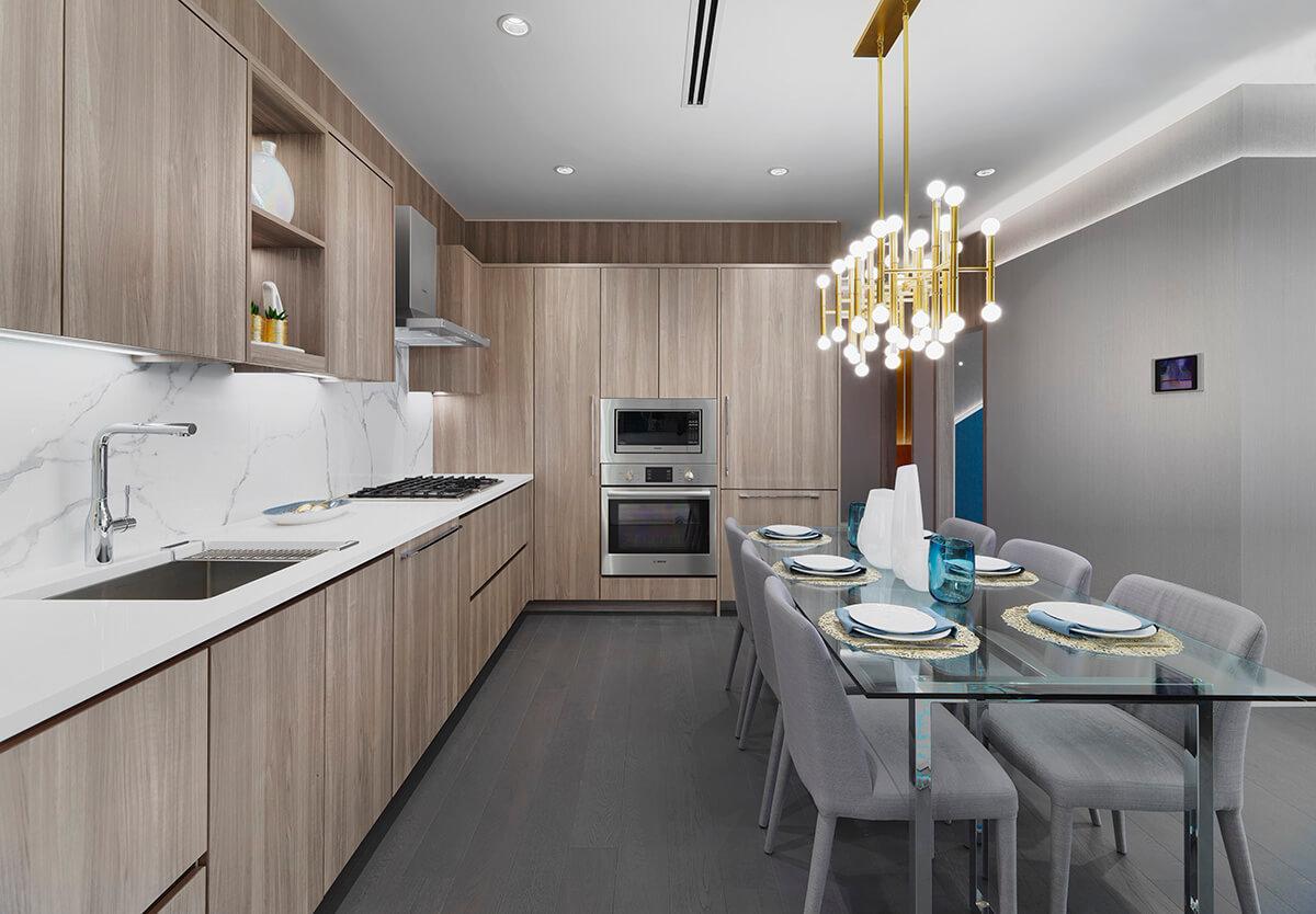 Kitchen & Dining Area = 8671 Hazelbridge Way, Richmond, BC V0V 0V0, Canada!