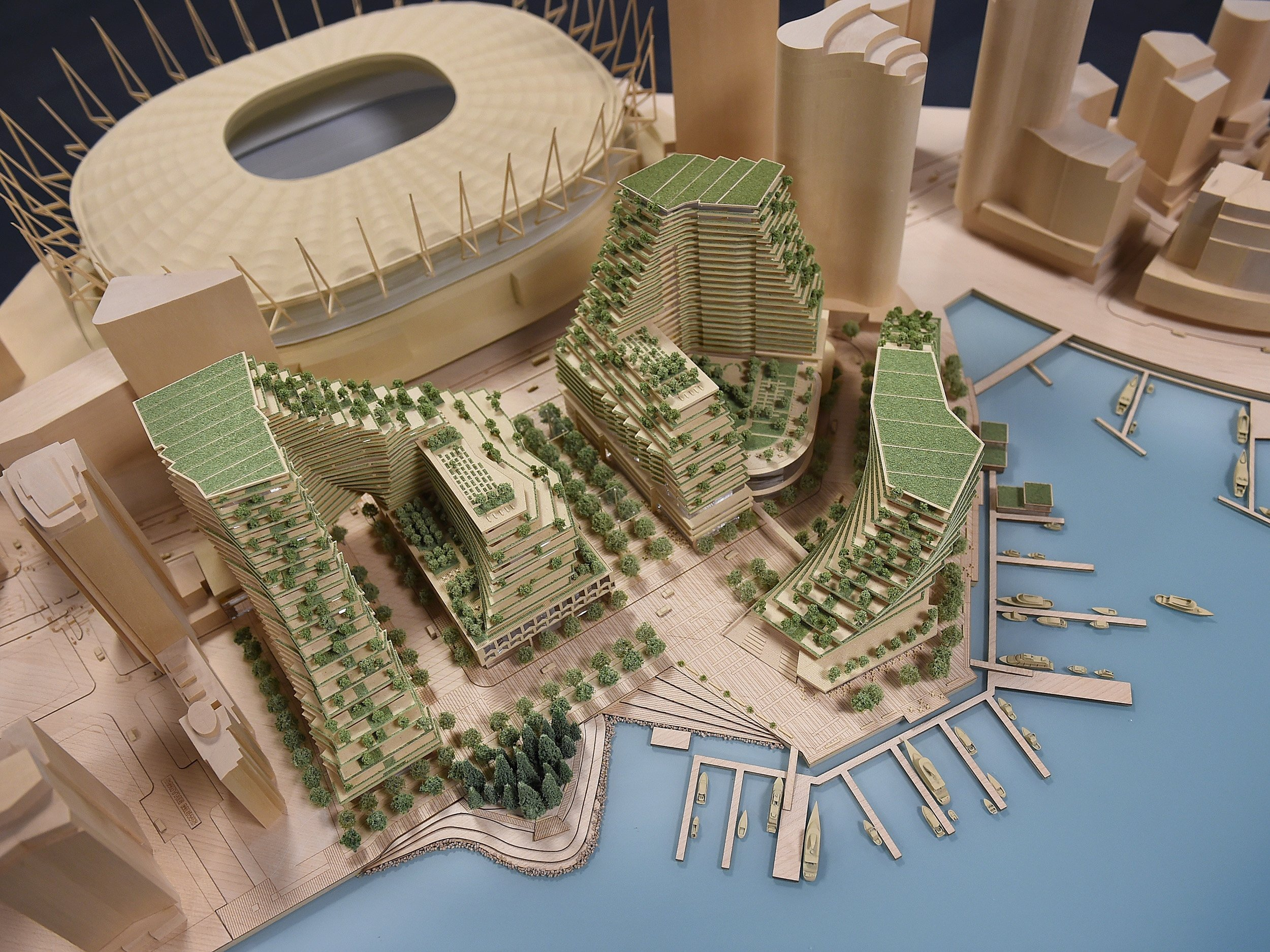 A model of the planned development. Photo Dan Toulgoet !