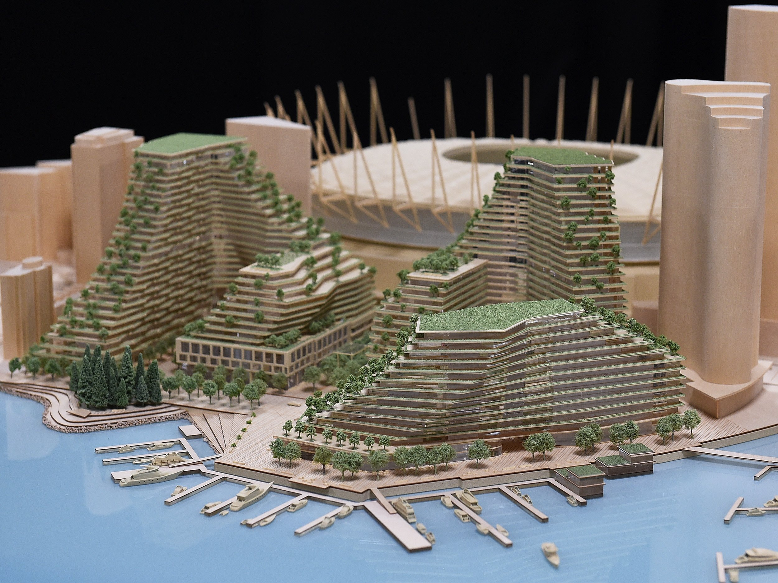 A model of the planned development. Photo Dan Toulgoet!