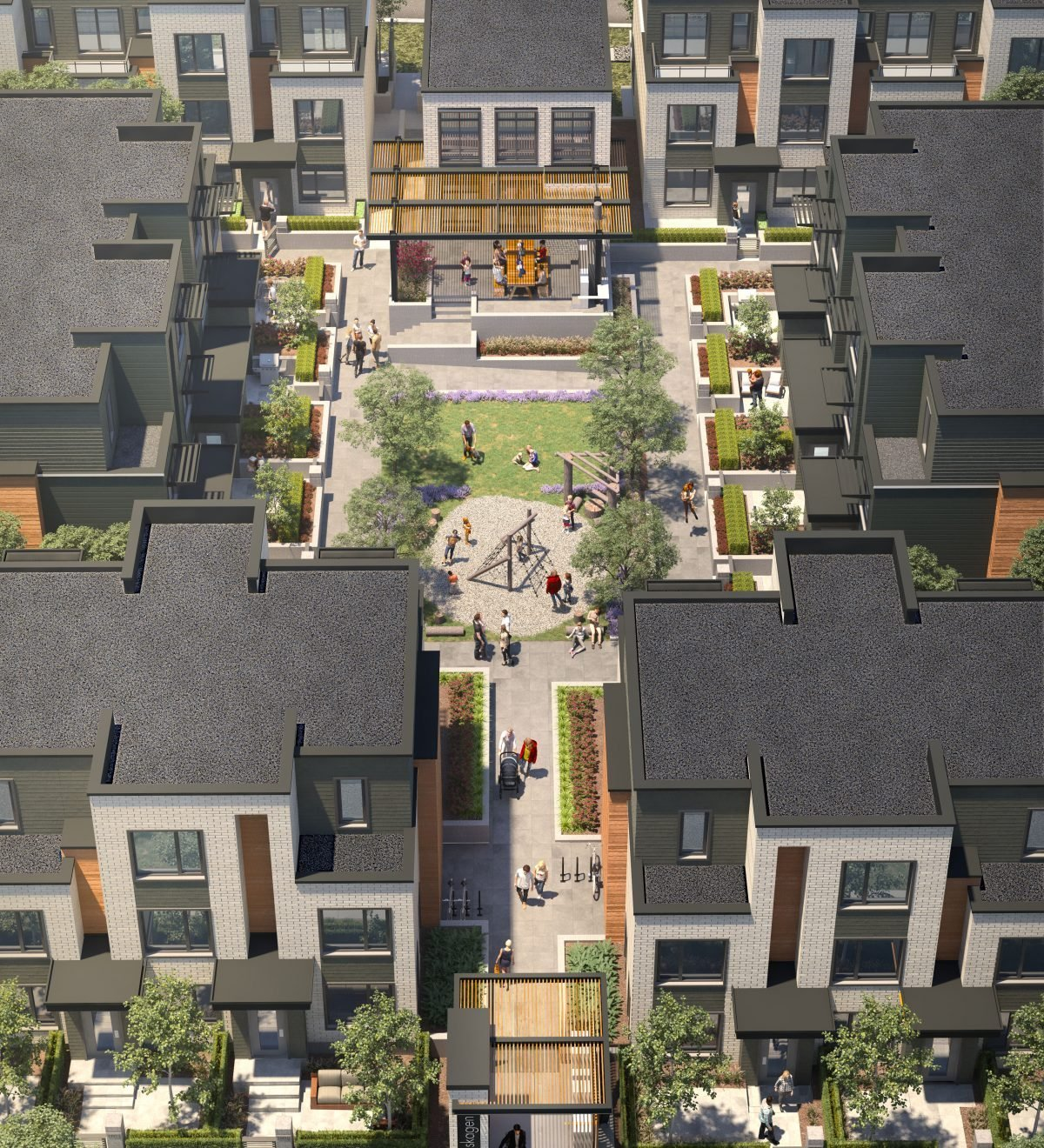 Exterior Aerial View - 606 Foster Ave, Coquitlam, BC V3J 2L7, Canada!