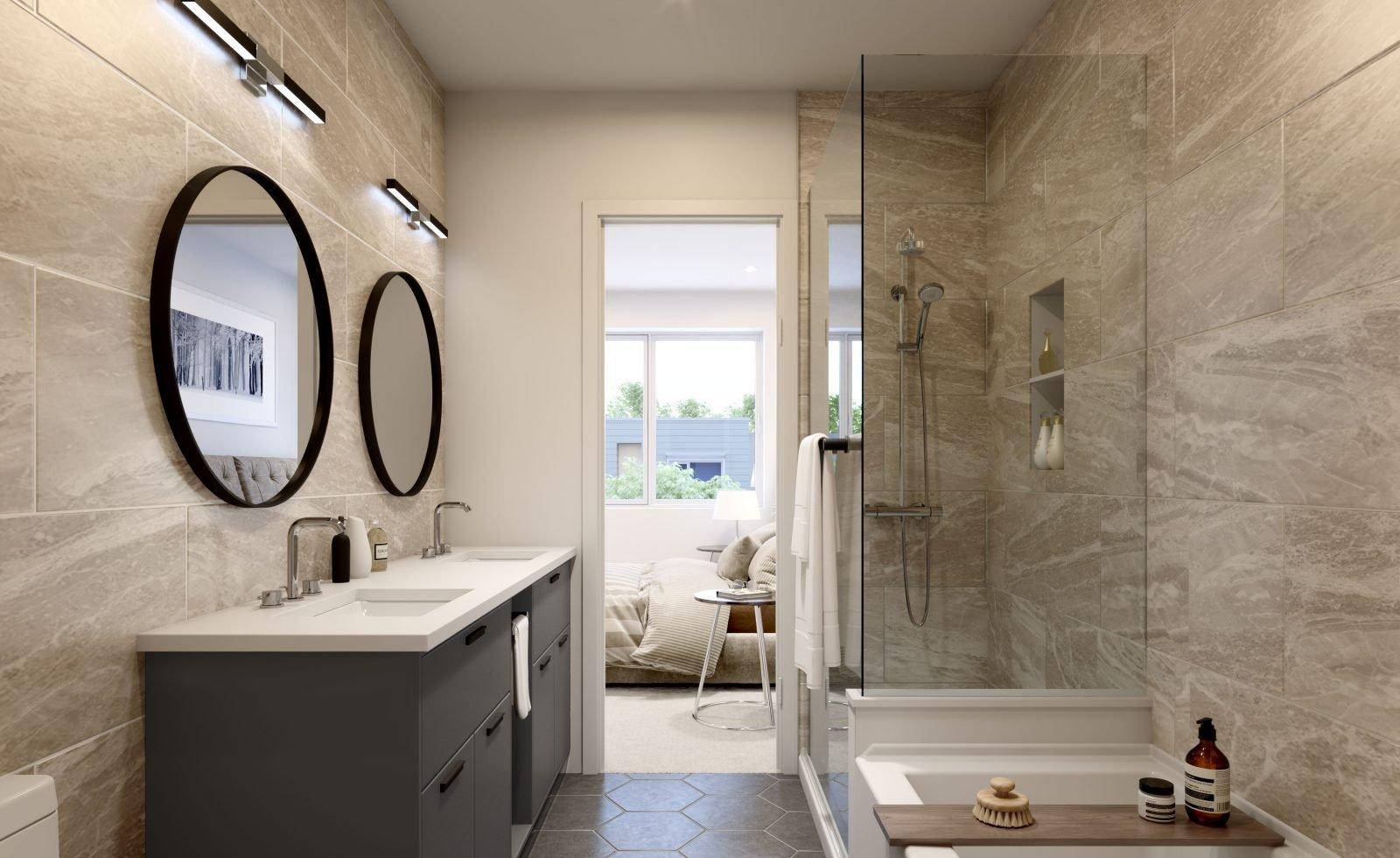 Bathroom - 606 Foster Ave, Coquitlam, BC V3J 2L7, Canada!